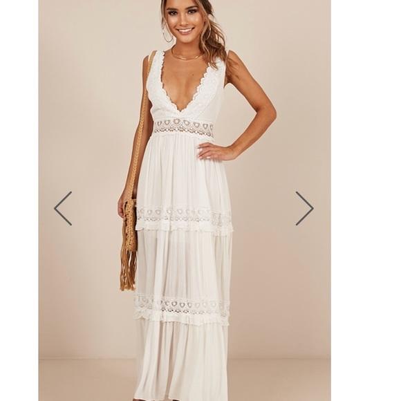 a05e01458c4 White maxi prom   formal dress